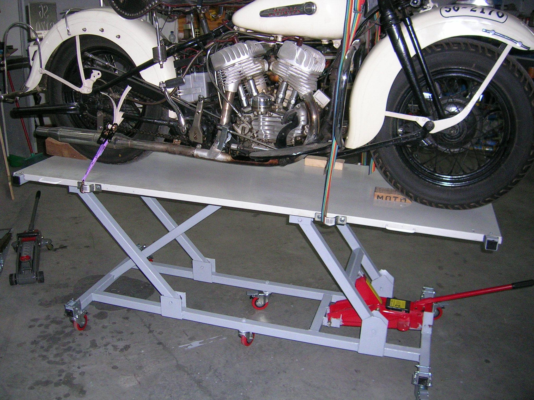 Gatos hidraulicos caseros for Mesa de taller segunda mano