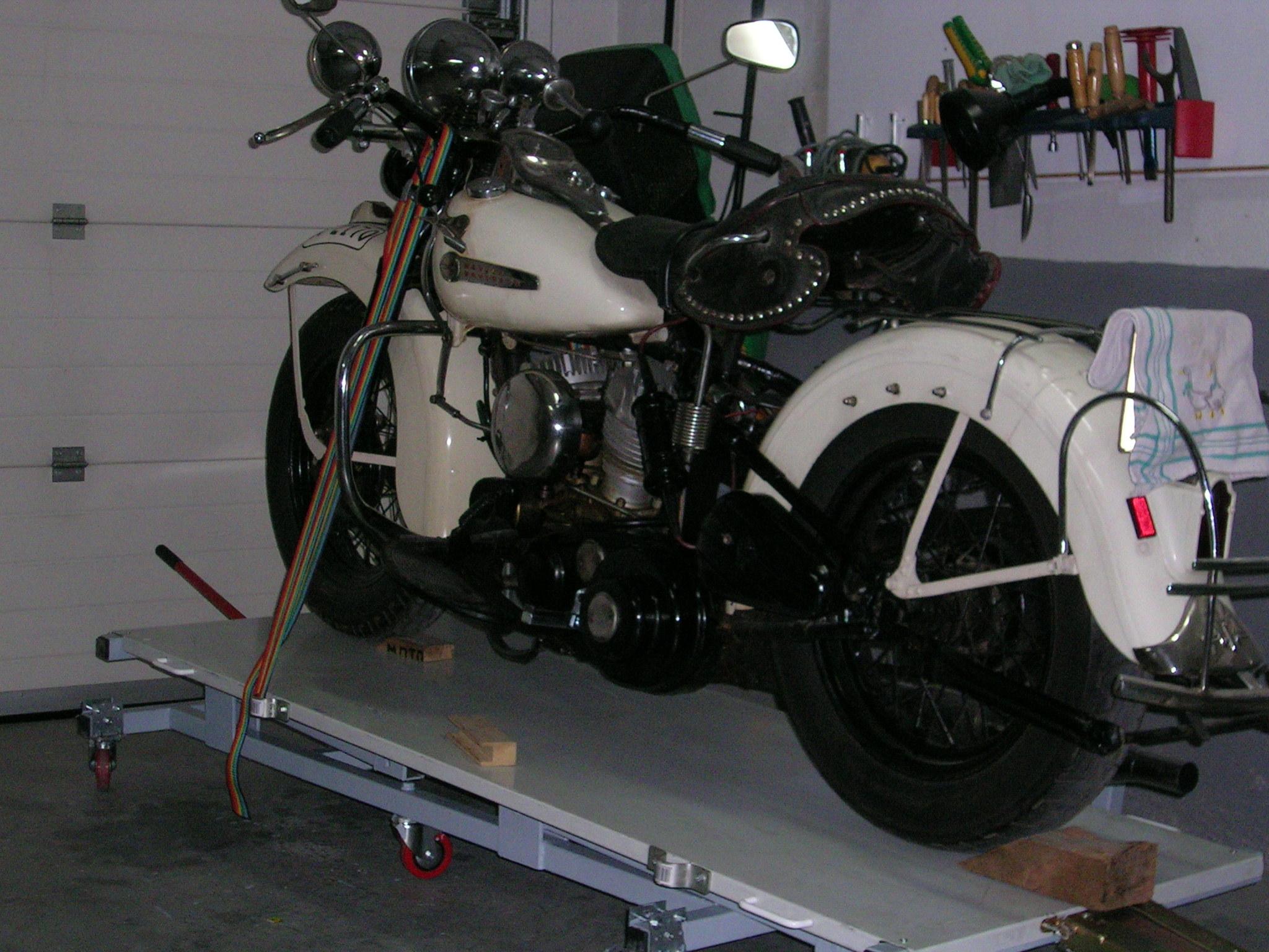 Los calzos evitan que la moto se desplace.