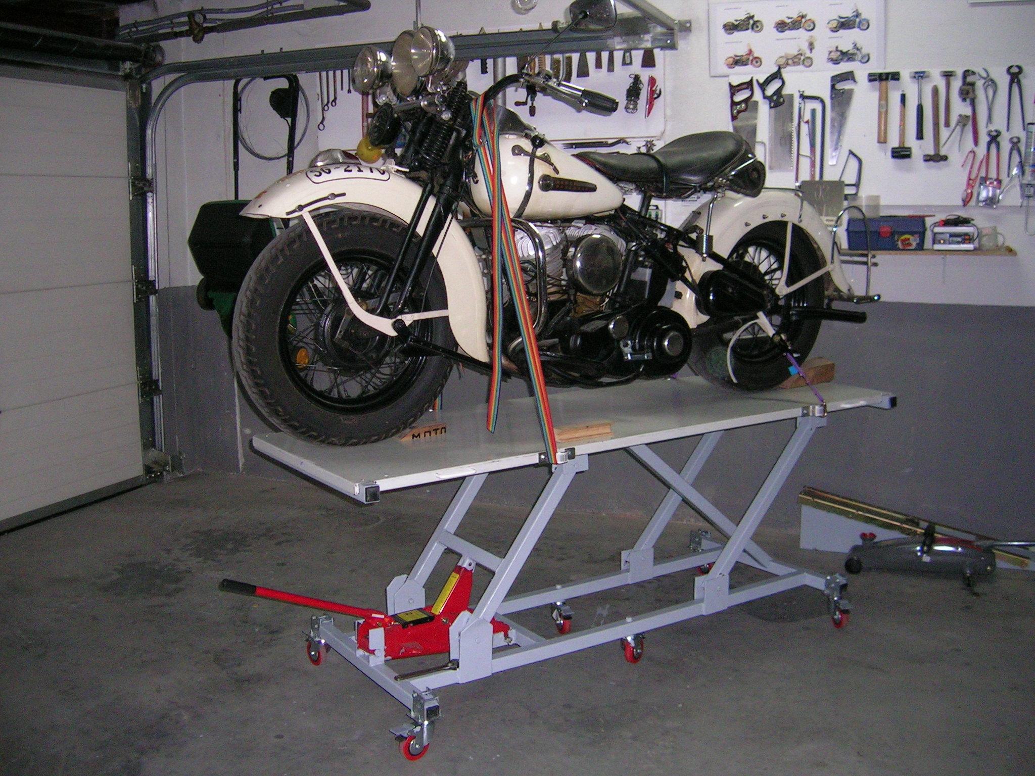 Elevador de motos casero - Harley Clasica