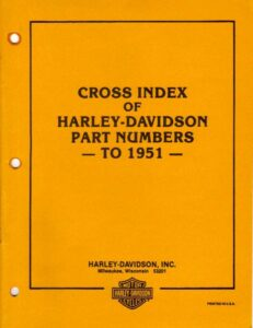 Cross Index of HD Part Numbers