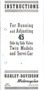 Instructions for Running and Adjusting 45″