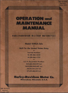 WLA Operation and Maintenance Manual – TM 10-1175