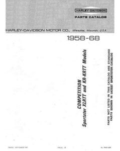 1958-1968 - Parts List