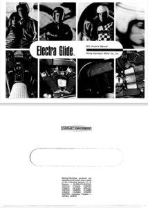 """""""Electra-Glide"""" Owner's Manual"""