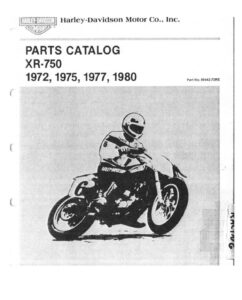 1972-1980 - XR 750 Parts Catalog