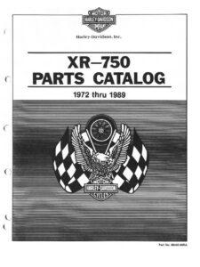1972 - 1989 - XR 750 Parts Catalog