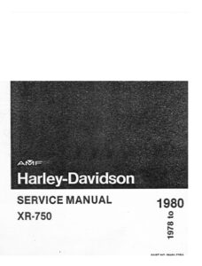 1978 - 1980 - AMF HD XR-750 Service Manual