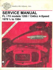 "1978-1984 - ""Electra-Glide"" / ""Super-Glide"" Service Manual"