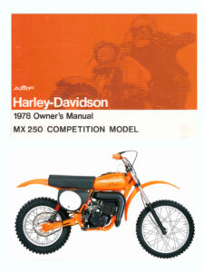 1978 - MX 250 Owner's Manual