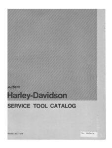 Harley-Davidson Service Tool Catalog