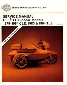 1979-1984 - CLE / TLE Sidecar Models Service Manual