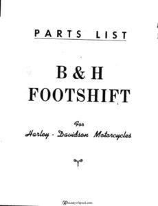B & H Footshift