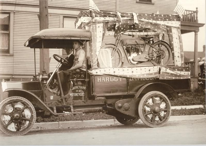 Transporte con camión en la primera década de S. XX.