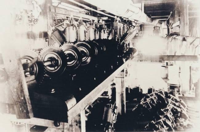 Almacenaje de motores V-Twin