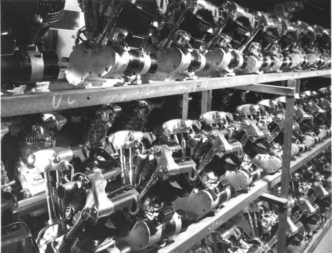 Almacenaje de motores Knucklehead