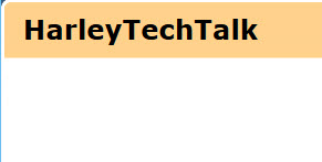 Harley Techtalk
