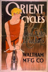 Cartel publicitario de Bicicletas Orient Cycles