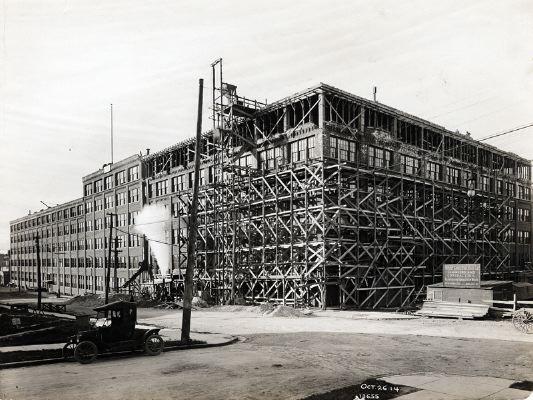 Ampliación de la fábrica en 1912