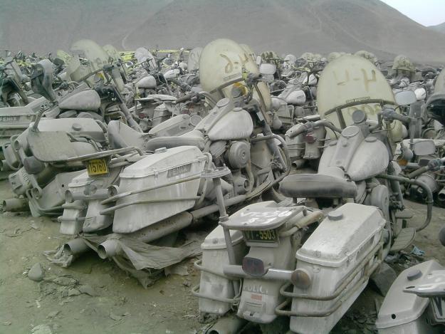 Desguace de Harley-Davidson policía en Perú