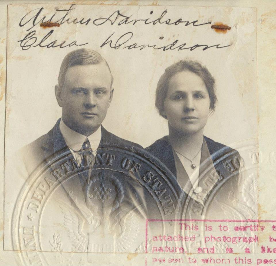 Arthur Davidson y su esposa Clara (años 1900)