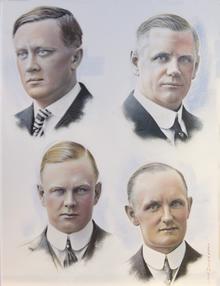 Los cuatro fundadores en los años 20