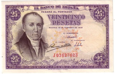 1946, billete de 25 pesetas
