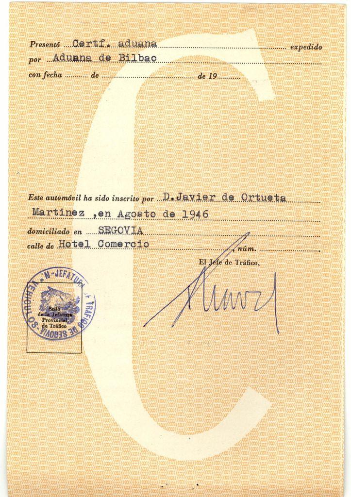 1946, primer propietario