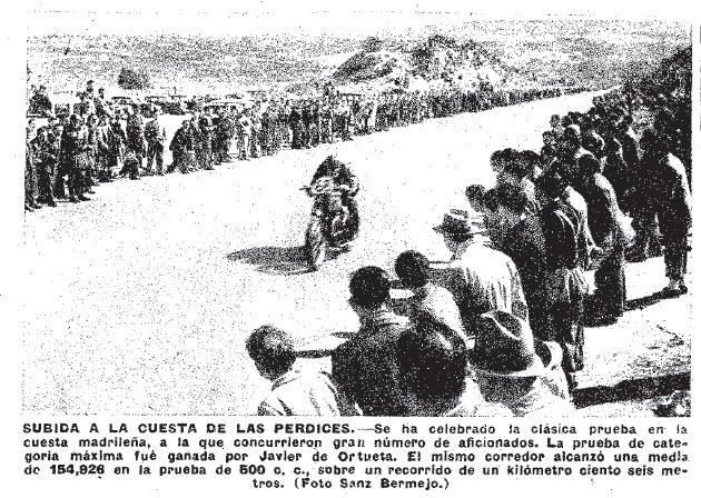 1950, Javier Ortueta en una carrera que acabó ganando.