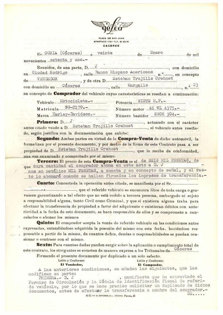 Contrato de compraventa (anverso)