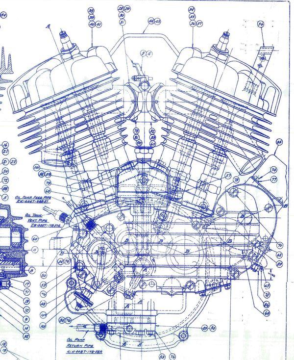 Blue print de un motor WL-45