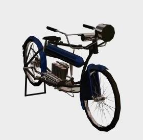 """Dibujo """"Bicicleta con motor"""""""