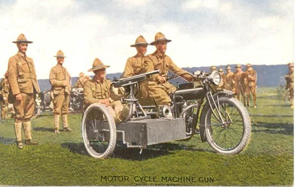 1910 - sidecar con ametralladora