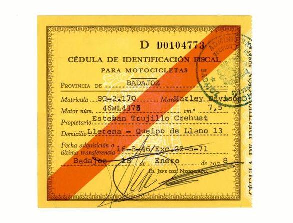 1978 - Cédula de Identificación Fiscal