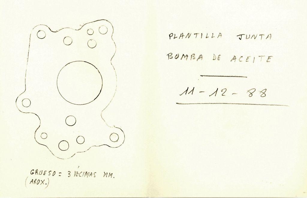 1988 - Junta bomba aceite