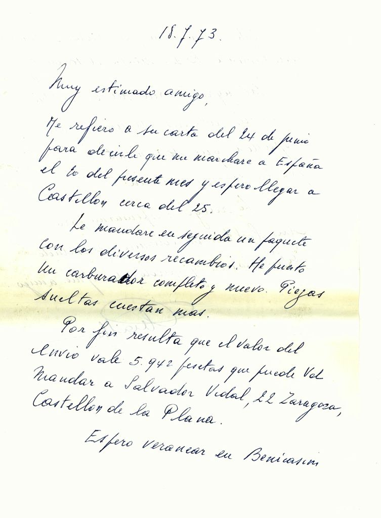 Jul-1973: Carta de Bruselas