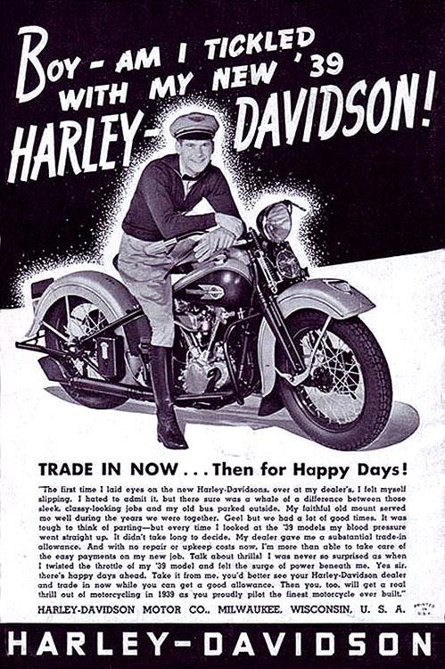 1939 – new Harley-Davidson