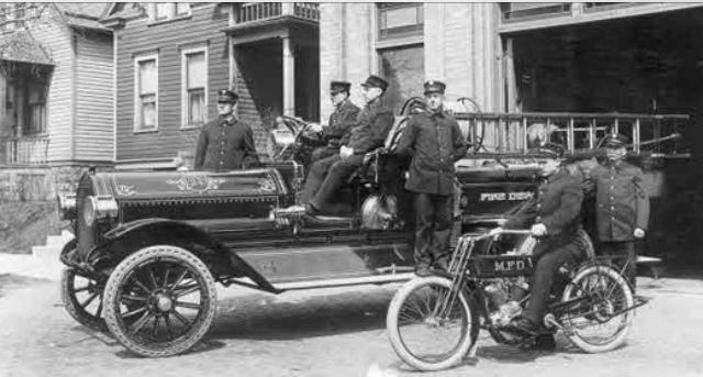 Harley-Davidson como vehículo de apoyo
