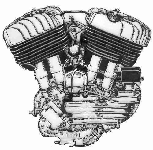 """Motor """"Flathead"""" del modelo WL-45"""