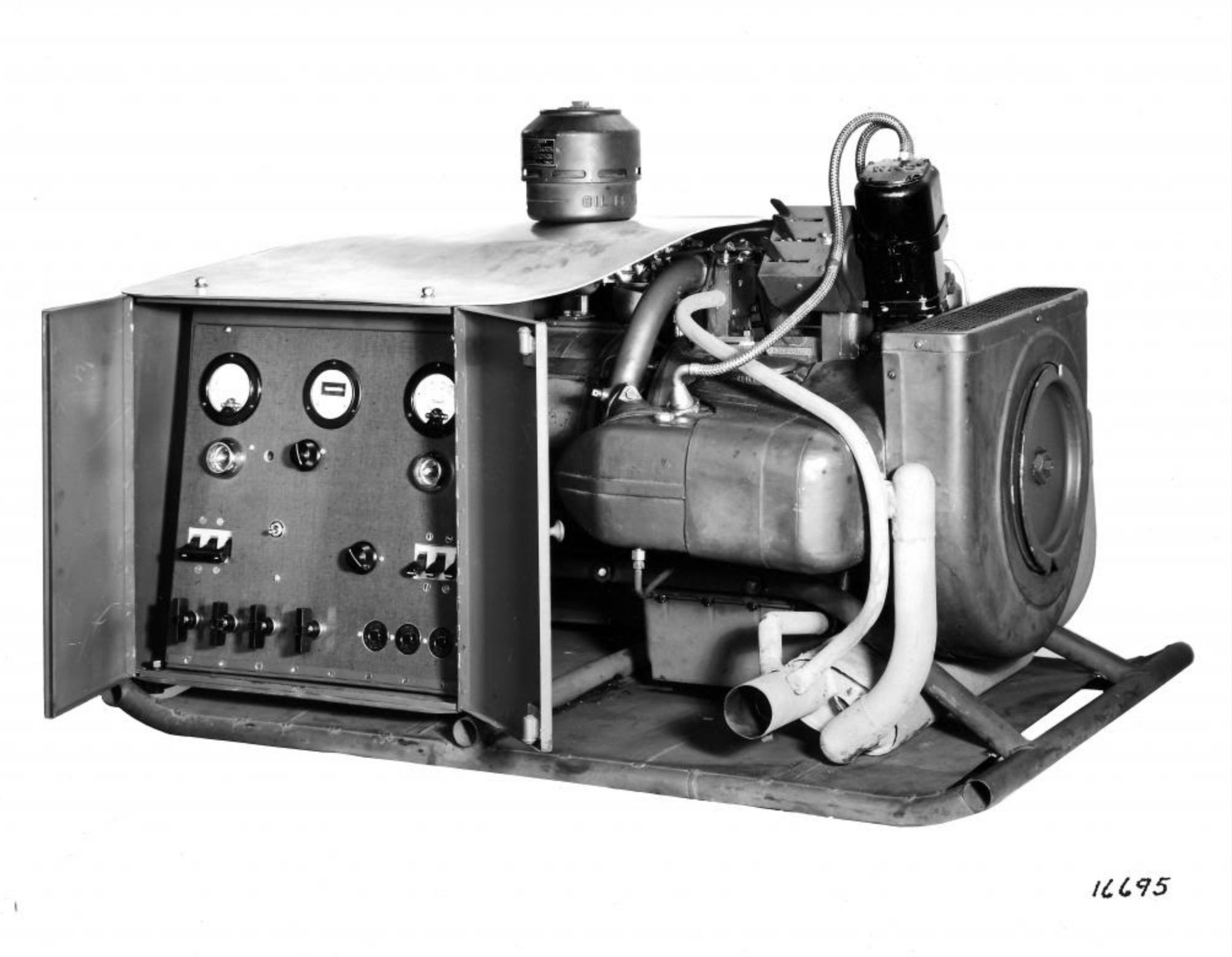Motor Boxer XOD acoplado a un grupo electrógeno