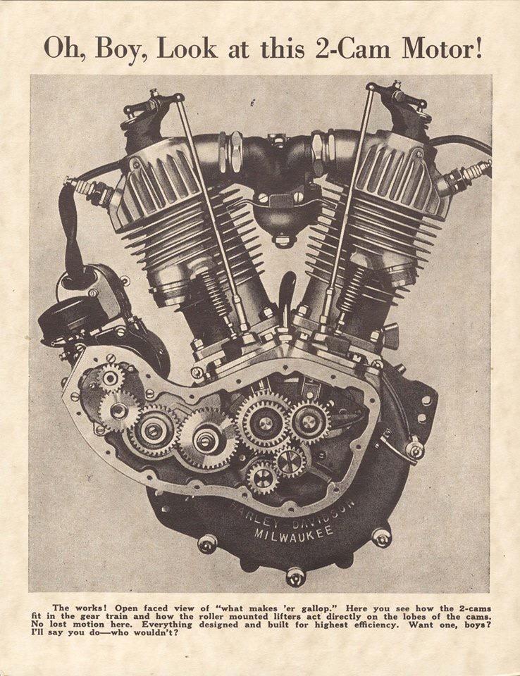 Motor F-Head sin la tapa de la distribución