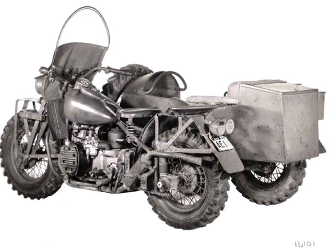 Modelo XA Sidecar - vista trasera izquierda