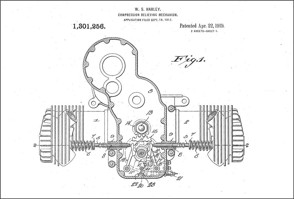 1919 - Patente del motor WJ Sport Twin