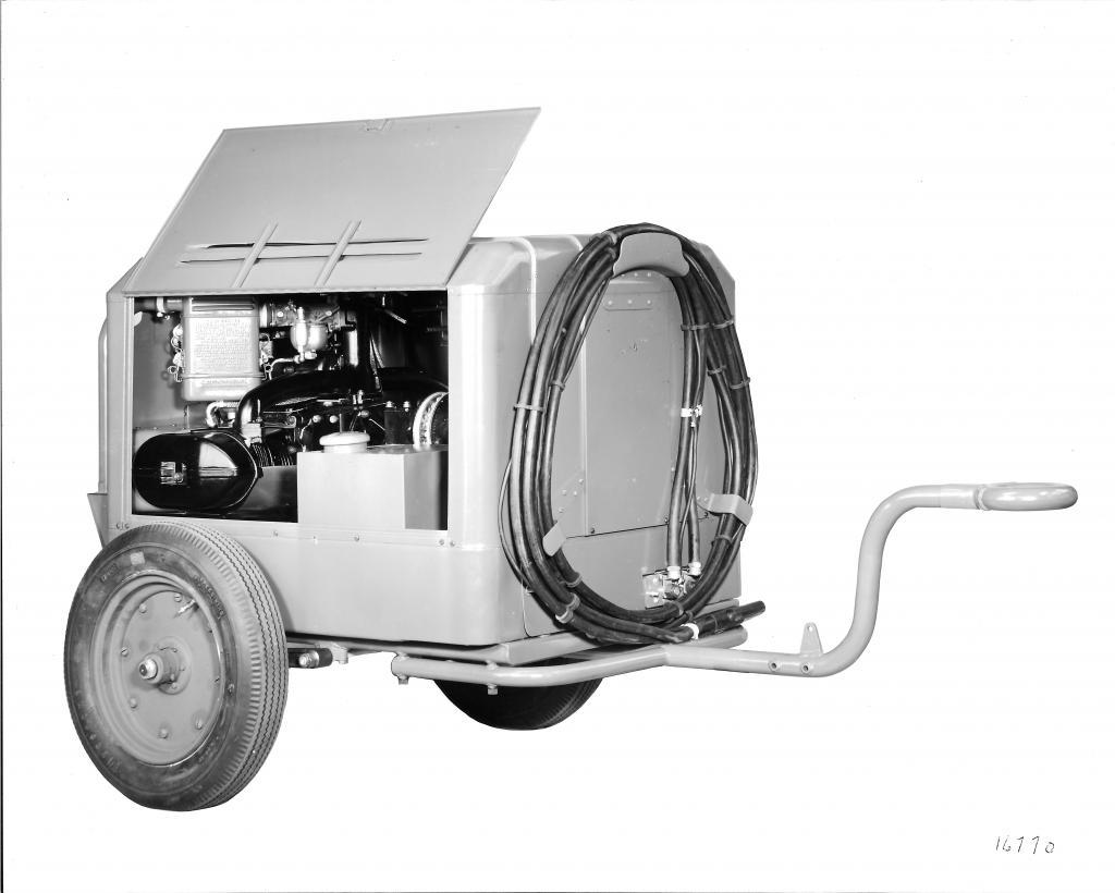 Motor XOD accionando un compresor de aire