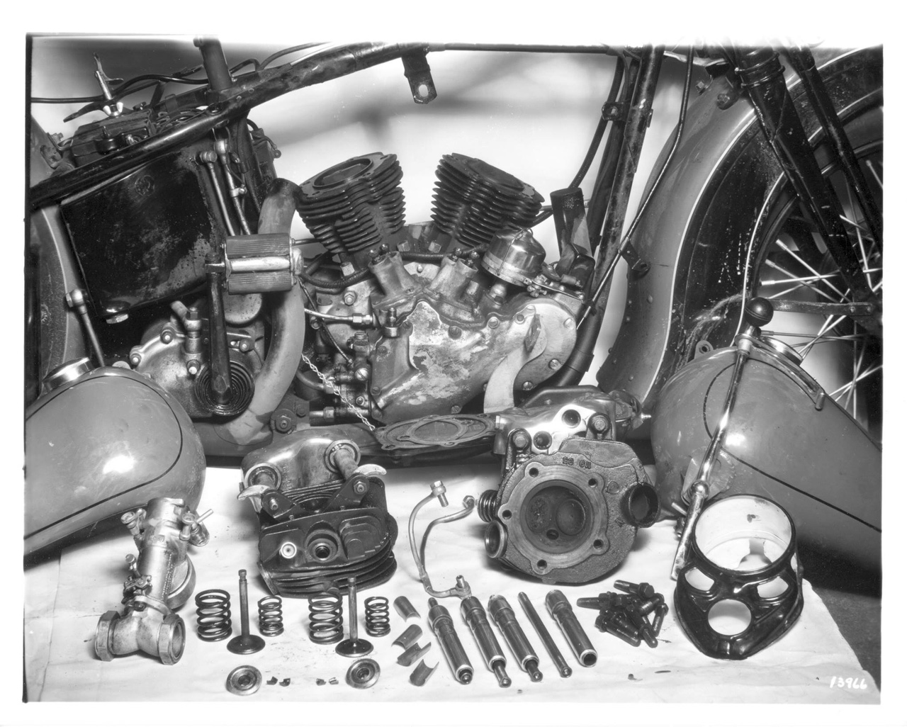 Despiece del motor OHV Knucklehead