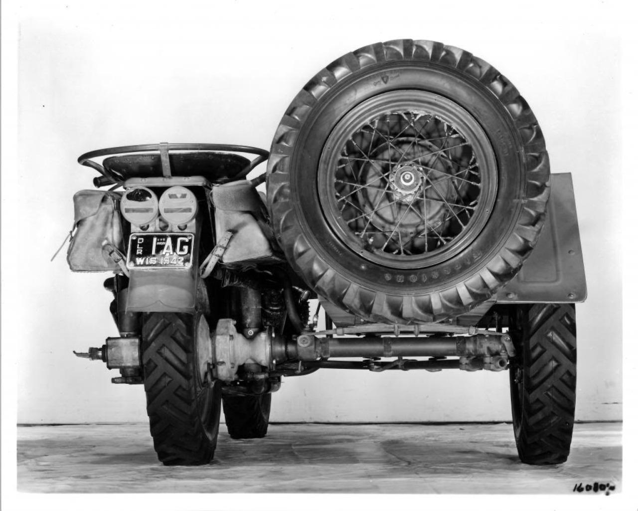 Modelo XA - Sidecar - Vista trasera