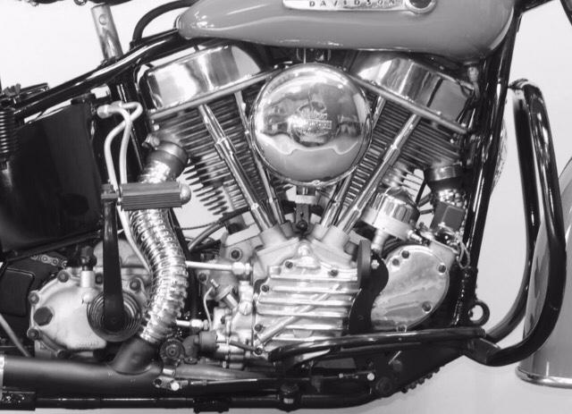 Motor Panhead en un modelo Hydra-Glide de 1948