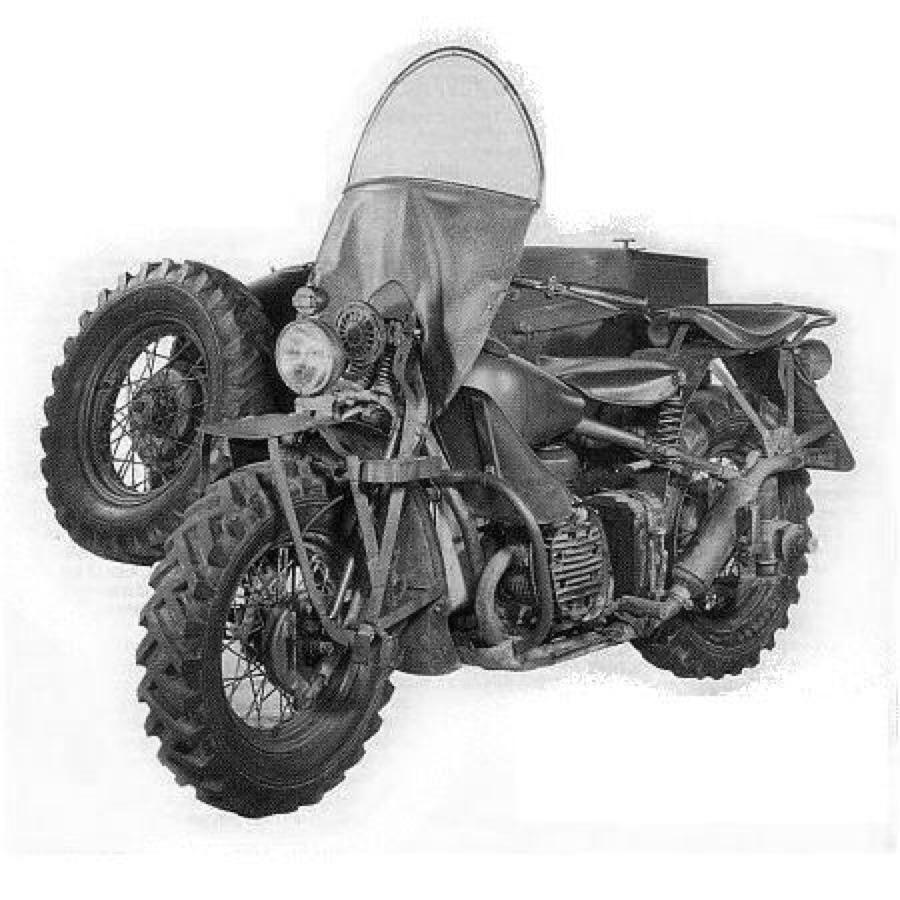 Modelo XA Sidecar con parabrisas