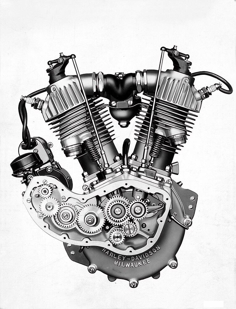 Motor F-Head (IOE) con válvula de admisión en cabeza