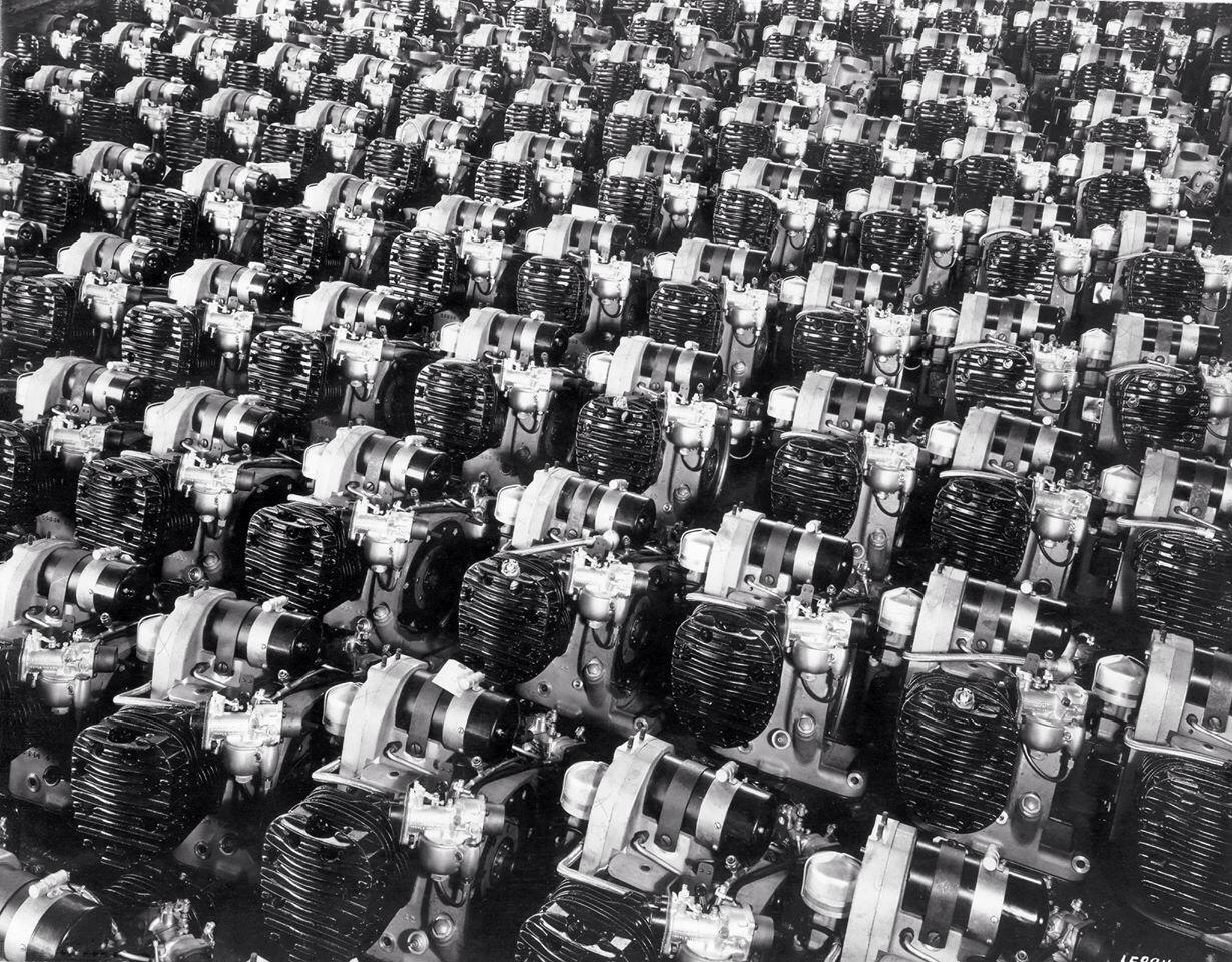 Motores XA preparados para su ensamblaje