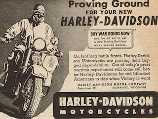 Promociones y propaganda de Harley-Davidson en la guerra